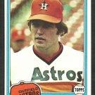 Houston Astros Terry Puhl 1981 Topps Baseball Card # 411 nr mt