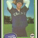 Chicago White Sox Britt Burns 1981 Topps Baseball Card # 412 ex/em