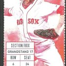 Kansas City Royals Boston Red Sox 2015 Ticket Mike Moustakas HR Jackie Bradley Eric Hosmer