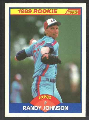 Montreal Expos Randy Johnson Rookie Card Rc 1989 Score