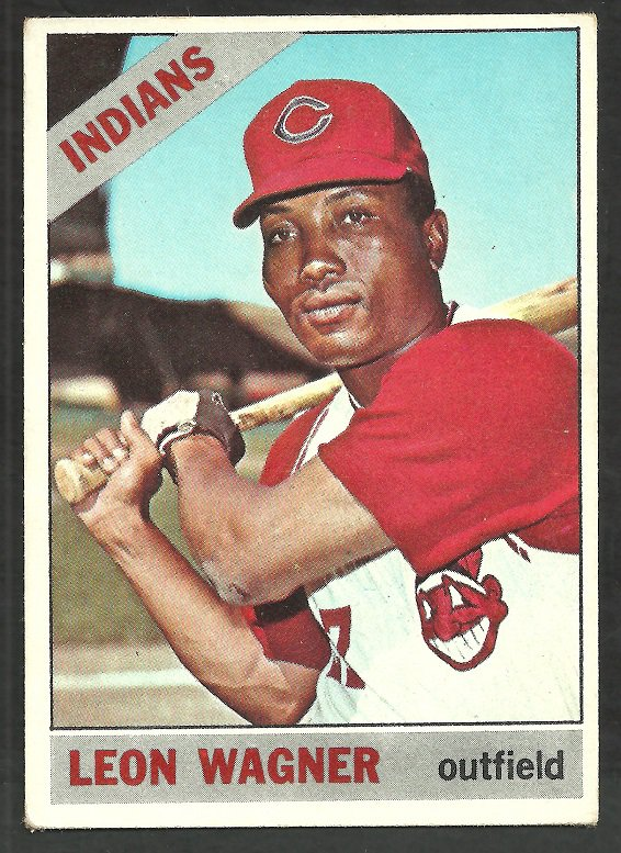 Cleveland Indians leon Wagner 1966 Topps Baseball Card # 65 ex