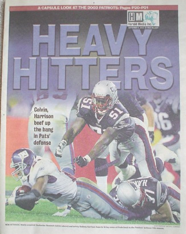 2003 New England Patriots Season Preview Newspaper Premium 32 Pages