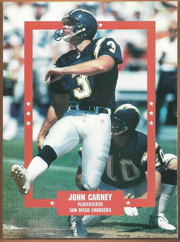 San diego chargers john carney 1995 pinup photo for Used jewelry san diego