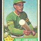 Oakland Athletics Bert Campaneris 1976 Topps Baseball Card # 580 fair