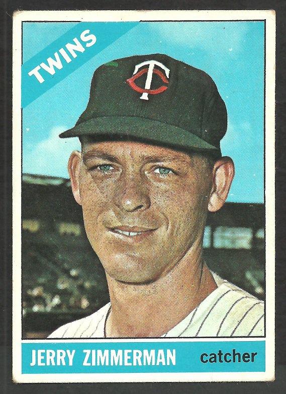 Minnesota Twins Jerry Zimmerman 1966 Topps Baseball Card # 73 vg