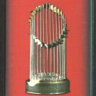 2005 Boston Red Sox Pocket Schedule World Series Champions Trophy