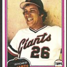 San Francisco Giants John Montefusco 1981 Topps Baseball Card # 438 nr mt