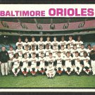 Baltimore Orioles Team Card 1973 Topps Baseball Card # 278 vg/ex