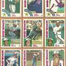 1984 Topps Montreal Expos Team Lot Andre Dawson Tim Raines Gary Carter Steve Rogers Al Oliver