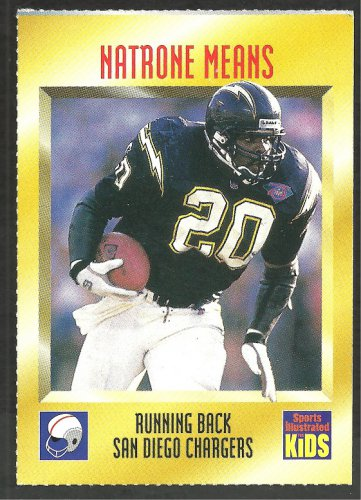 San Diego Chargers Natrone Means 1995 Sports Illustrated For Kids Football Card # 5