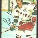 New York Rangers Rod Gilbert 1977 Topps Insert Hockey Card # 18 vg