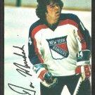 New York Rangers Don Murdoch 1977 Topps Insert Hockey Card # 12 vg