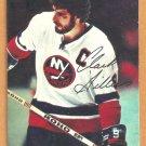 New York Islanders Clark Gillies 1977 Topps Insert Hockey Card # 6 vg