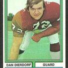St Louis Cardinals Dan Dierdorf 1974 Topps Football Card # 32 em/nm