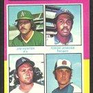 Victory Leaders Oakland Athletics Texas Rangers Dodgers Braves 1975 Topps Baseball Card # 310 ex