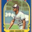 Atlanta Braves Chris Chambliss 1981 Fleer Star Sticker Baseball Card # 81