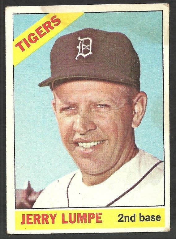 Detroit Tigers Jerry Lumpe 1966 Topps Baseball Card # 161 good