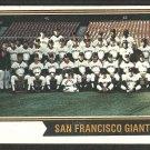 San Francisco Giants Team Card 1974 Topps Baseball Card # 281 vg