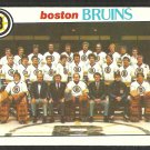 Boston Bruins Team Card 1978 O-Pee-Chee OPC Hockey Card # 193 nr mt soc