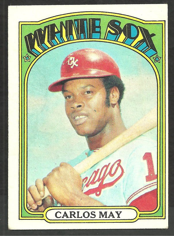 Chicago White Sox Carlos May 1972 Topps Baseball Card # 525 ex
