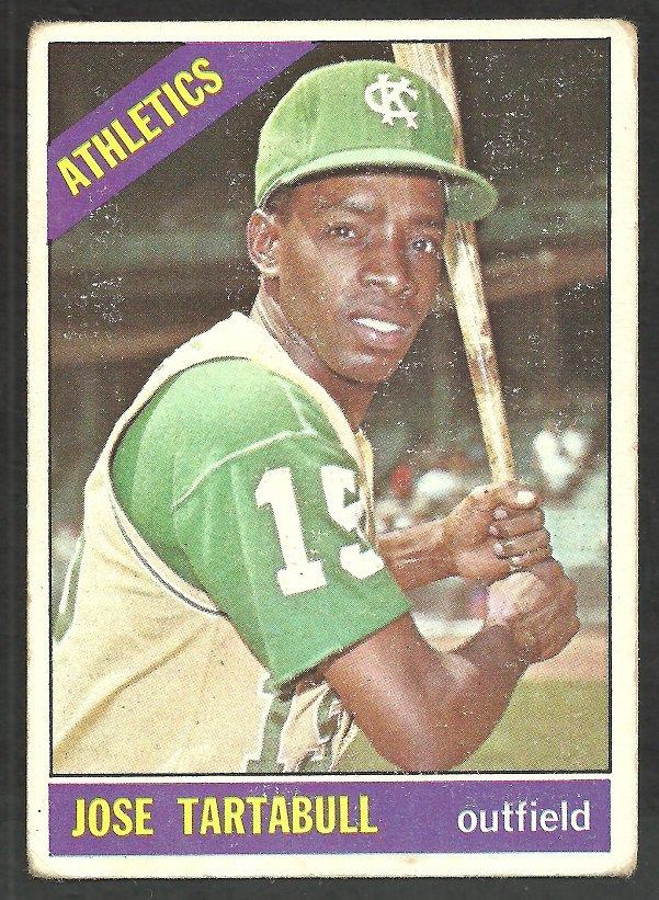 Kansas City Athletics Jose Tartabull 1966 Topps Baseball Card # 143 good