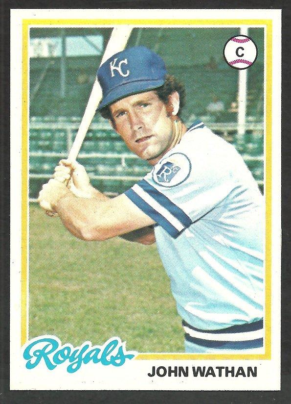 Kansas City Royals John Wathan 1978 Topps Baseball Card # 343 nr mt