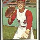Cleveland Indians Jack Kralick 1966 Topps Baseball Card # 129 vg/ex