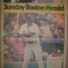 BOSTON RED SOX DON BAYLOR LARGE 1986 BOSTON NEWSPAPER POSTER