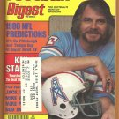 1980 Football Digest Houston Oilers Ken Stabler Pittsburgh Steelers Chicago Bears Denver Broncos