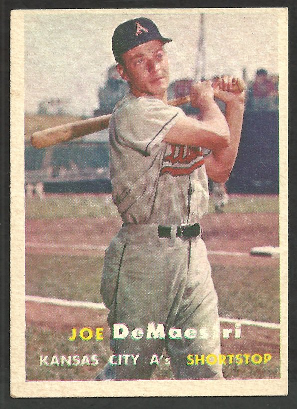 Kansas City Athletics Joe DeMaestri 1957 Topps Baseball Card # 44 ex