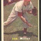 Philadelphia Phillies Bob Miller 1957 Topps Baseball Card # 46 ex mt