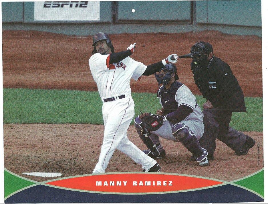 Boston Red Sox Manny Ramirez 2006 Pinup Photo