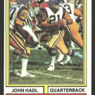 Los Angeles Rams John Hadl 1974 Topps Football Card # 50 ex mt