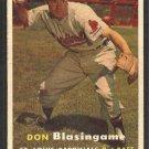 St Louis Cardinals Don Blasingame 1957 Topps Baseball Card # 47 ex/em