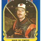 Baltimore Orioles Doug DeCinces 1981 Fleer Star Sticker Baseball Card # 90