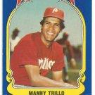 Philadelphia Phillies Manny Trillo 1981 Fleer Star Sticker Baseball Card # 96