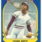 Kansas City Royals Frank White 1981 Fleer Star Sticker Baseball Card # 97