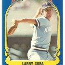 Kansas City Royals Larry Gura 1981 Fleer Star Sticker Baseball Card # 102