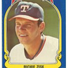 Texas Rangers Richie Zisk 1981 Fleer Star Sticker Baseball Card # 105