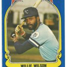 Kansas City Royals Willie Wilson 1981 Fleer Star Sticker Baseball Card # 106
