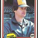 Milwaukee Brewers Paul Mitchell 1981 Topps Baseball Card # 449 nr mt