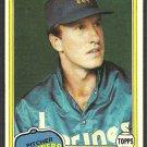 Seattle Mariners Jim Beattie 1981 Topps Baseball Card # 443 nr mt