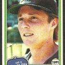 Chicago White Sox Ron Pruitt 1981 Topps Baseball Card # 442 nr mt