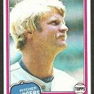 Los Angeles Dodgers Jerry Reuss 1981 Topps Baseball Card # 440 nr mt