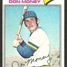 Milwaukee Brewers Don Money 1977 Topps Baseball Card 79 vg