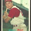 Cincinnati Reds Wally Post 1957 Topps Baseball Card 157 ex/em