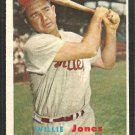 Philadelphia Phillies Willie Jones 1957 Topps Baseball Card 174 ex mt