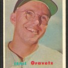 Washington Senators Ernie Oravetz 1957 Topps Baseball Card 179 ex/em