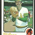 Oakland Athletics Rollie Fingers 1973 Topps Baseball Card 84 vg/ex