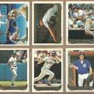 1993 Topps Gold Insert Seattle Mariners Team Lot Randy Johnson Edgar Martnez Tino Martinez